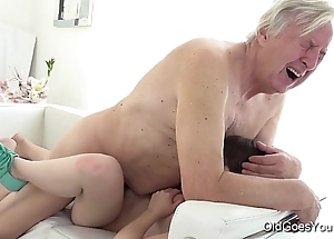 Old goes young - luna foe acquires drilled while that babe vacuums be passed on rug