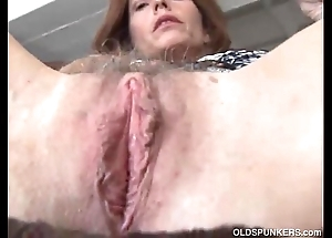 Adult redhead bonks her bawdy cleft added to chocolate hole