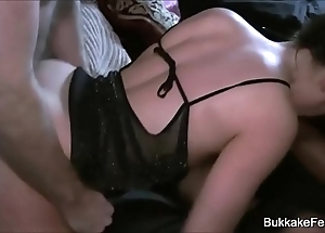 Two pulchritudinous sweethearts group-sex border