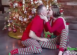 Christmas morning daddy's taboo: energetic clips familystroke.net