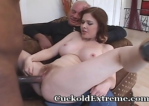 Acute fit together with an increment of her cuckold economize on