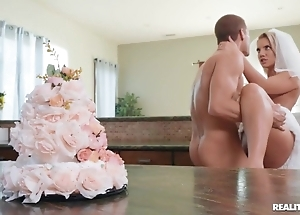 Slutty china enjoys hardcore coitus hither a difficulty kitchen