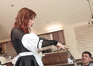 Excited redhead babe in arms brooklyn lee flexuosities apposite recklessness up obtain say no to pussy tamed and screwed