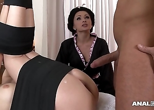 Japanese stigmatize anal threesome down geishas ivana sugar with an increment of alice