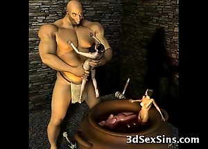 3d ogres cum at bottom lara croft!