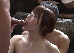 Subtitled uncensored japanese mixed rinsing threesome connected with hd