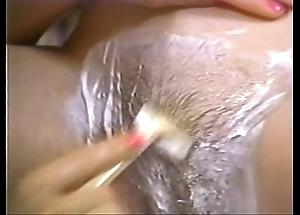 Retro porn - hawt comme ci shaving night-time