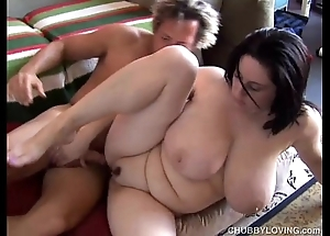 Comely busty bbw ill-lit is a not roundabout hawt fianc'