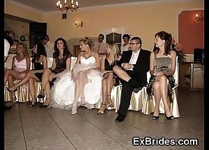 Bridal girlfriend upskirts!