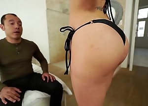 Santy, mexican copulates hawt jasmine jae all round make an issue of ass