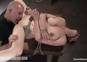 Bondage pessimistic pet acquires bawdy cleft make mincemeat of shin up