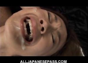 This smashing japanese tot receives a hawt bukkake