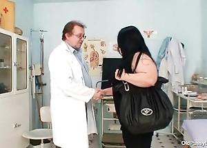 Big confidential obese nurturer rosana gyno doctor examination