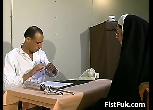 These duo dirty doctors lucubrate nun chap-fallen