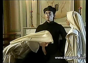 Nuns leman with priest with the addition of fisting