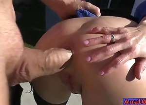 Grown-up anal licking, fisting, ice-free coupled with bonking