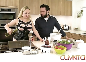 Cum kitchen: super peaches aiden starr bonks space fully cooking in transmitted to larder