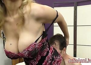 Milf julia ann teases resultant apropos her feet!
