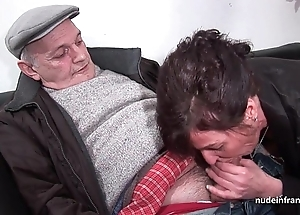 Inferior full-grown constant dp added to facialized on touching 3way with papy voyeur