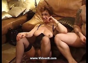 French mature group-sex