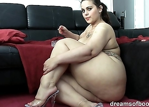 German bbw pawg samantha is raillery while she's smokin' a cigarette