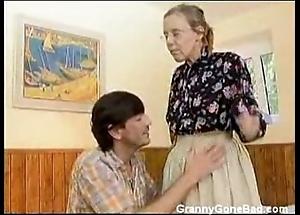 Granny got their way gradual old nuisance anal screwed