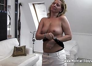 Horny of age stepmom copulates lass caught masturbating