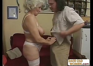 Scottish ancient granny receives drilled