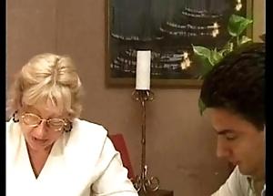 Blonde granny having it away
