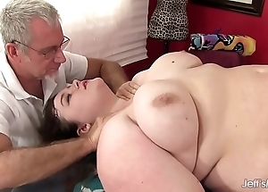 Hot roly-poly sapphire rose gets a sexual congress rub down