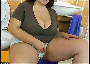 Bbw chubby full-grown have sexual intercourse approximately old bean