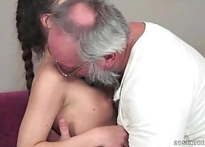 Teenie anita bellini acquires screwed apart from a grandad