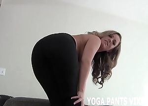 Clear off your cock after a long time i rag u in my yoga equipment joi